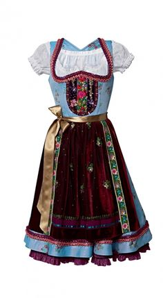 Cutest dirndl, hands down. By Lola Paltinger (Marie-Blumenbouquets Blau)