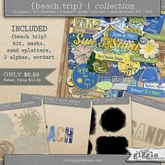 {Beach Trip} Collection | A Little Giggle Designs