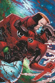 Red Lantern Guy Gardner & Bleez by Alessandro Vitti