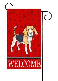 Beagle Garden Flag