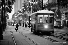 A New Orleans trolley car. Photo by Robert Wojtowicz. Downtown New Orleans, New Orleans Louisiana, Dreamy Photography, Fine Art Photography, Travel Photography, Pictures Images, Print Pictures, Wall Prints, Framed Art Prints