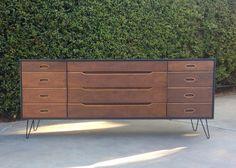 PORTFOLIO Mid Century Modern Dressers Desks by theHouseofWillow, $400.00
