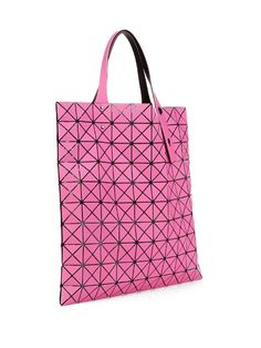 This season, Bao Bao Issey Miyake adds energy to its Prism 2 tote with a bright- pink hue.
