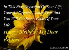 Happy Birthday Wishes For Brother Quotes