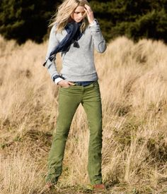 i need to find olive pants.