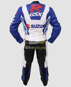 Suzuki Turquoise RGSX Motorcycle Leather Suit
