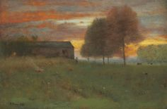 """thunderstruck9: """" George Inness (American, 1825-1894), Early Morning, Montclair, New Jersey, 1892. Oil on canvas, 76.5 x 114.6 cm. """""""