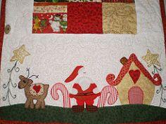 Detalhe Trilho de Mesa Papai Noel (Atelier Mimos da Fau) Tags: natal quilt patchwork papainoel encomenda patchcolagem trilhodemesa