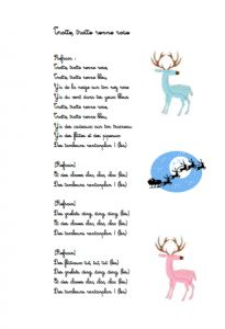 chanson de noel trotte trotte renne rose