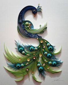 13 Paper Quilling Design Ideas That Will Stun Your Friends Neli Quilling, Peacock Quilling, Paper Quilling Cards, Paper Quilling Tutorial, Paper Quilling Patterns, Quilled Paper Art, Peacock Art, Quilling Craft, Paper Patterns