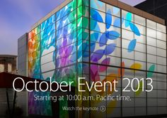 Watch Apple's October Keynote Event Live – Starting AM Pacific Time Apple October, Keynote, Blog, Technology, Watch, Live, News, Games, Tech