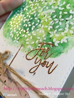 Stampin' Up! Thoughtful Branches Watercolor Card