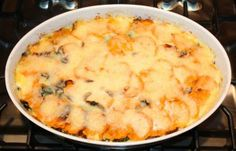 Sweet Potato, Collard & Bacon Gratin…delicious for a winter potluck...