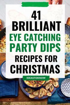 Christmas Party Dips, Christmas Apps, Christmas Dinners, Christmas Food Gifts, Holiday Snacks, Xmas Food, Christmas Appetizers, Christmas Recipes, Holiday Recipes