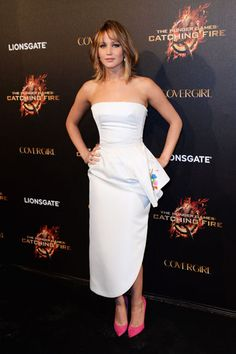 The Hunger Games: Catching Fire Party - Jennifer Lawrence In Christian Dior