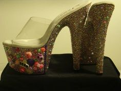 Punk Princess platform exotic dancer stripper gogo dancer shoes with b | jazznitup - Clothing on ArtFire