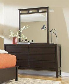 Athena Transitional Dark Chocolate Rubberwood MDF Dresser
