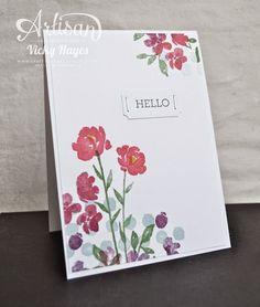 Watercolor petals card