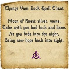Change your luck spell
