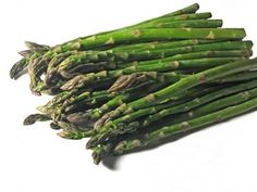 Good mood food... asparagus. Who knew? has lots of folate, which may fight depression. I'll be eating this.