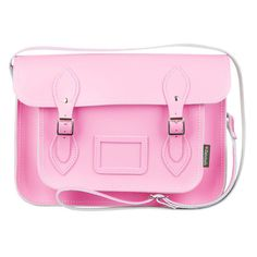 Zatchels Pastel 13 Leather Satchel ($65) ❤ liked on Polyvore featuring bags, handbags, purses, accessories, bolsas, baby pink, leather satchel purse, 100 leather handbags, leather handbags and leather strap purse