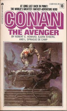Conan the Avenger - Robert E. Howard, Bjorn Nyberg, and L. Sprague de Camp, cover by Frazetta