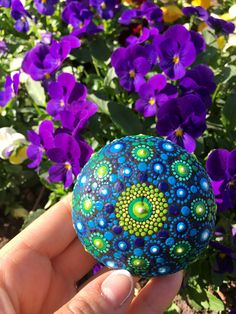 Log in to your Etsy account. Stone Mandala, Mandala Rocks, Mandala Artwork, One More Step, Stone Painting, Painted Rocks, Create Yourself, Blue, Etsy