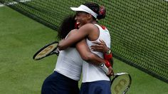 Venus and Serena Williams defeated Andrea Hlavackova and Lucie Hradecka of the Czech Republic to capture Olympics Doubles Title. Venus And Serena Williams, Usain Bolt, Double Team, Tennis Stars, Summer Olympics, Team Usa, Olympians, Little Sisters, Tennis Racket