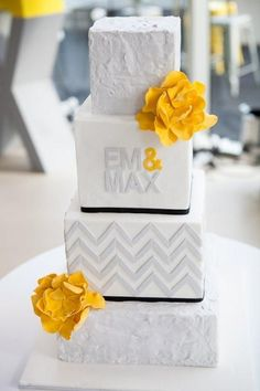 Grey and Yellow Gold Wedding Inspiration : Pieceful Wedding by reva