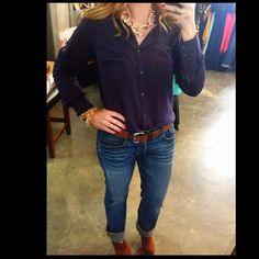 Casual Friday? This shirt is the perfect blend, so comfortable. $34 Available @shopelysian or www.facebook.com/shopelysian