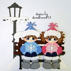 Newly listed on ebay...danderson651 Winter, Boy, Girl, Snowman, Paper Piecing, Scrapbooking