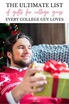 I am OBSESSED with this holiday guide for gifts for college boys. I finally know what to get my college-aged grandson for Christmas! College Boyfriend Gifts, Gifts For College Boys, College Guys, College Graduation Gifts, College Students, Darn Tough Socks, Beard Grooming Kits, Unique Gifts, Best Gifts