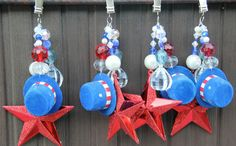 4th of July Tablecloth Weights by Sprinkle and Sparkle modern holiday outdoor decorations
