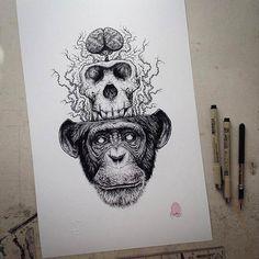 Skeletons – Les illustrations de Paul Jackson