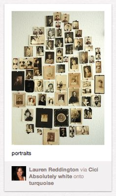 Love this way for displaying old family photos
