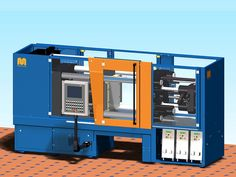 3D CAD Model of a Rubber injection molding system