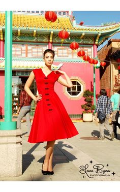 The Sandra Dress in Red by Pinup Couture