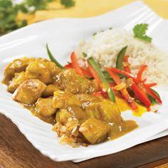 cari de poulet avec cookeo, voila une recette facile et rapide avec votre cookeo pour préparer un plat principal pour toute la famille.