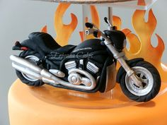 Groomscake Live To Ride Harley Davidson Motorcycle Grooms Cake more at Recipins.com: