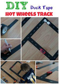 DIY Duck Tape Hot Wheels Track