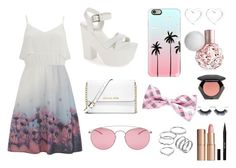 """летний сет"" by olyaromanova ❤ liked on Polyvore featuring Topshop, MICHAEL Michael Kors, Vero Moda, Casetify, Maison Margiela, Apt. 9, Marc by Marc Jacobs, Charlotte Tilbury, Stila and H&M"