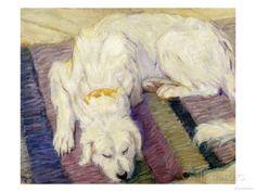 Franz Marc - A Dog Lying Down, 1909