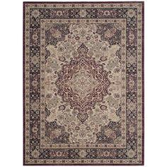 Teppich Aymara - Mischgewebe - Beige / Weinrot - 154 x 228 cm, Safavieh