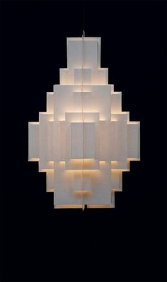 Cloud City paper pendant by Well Well Designers. Interior Lighting, Modern Lighting, Lighting Design, Deco Luminaire, Luminaire Design, Wall Fixtures, Light Fixtures, Wall Sconces, Pendant Lamp