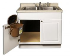 Great Kitchen Compost Caddy Under Sink Mounted Compost System