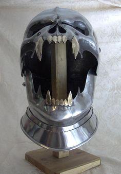 DEATH DEALER: Demonic Face Medieval Armor Helmet | Geekologie