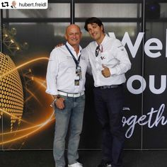 Hubert Freidl and Marc Verdaguer visited the exclusive myWorld Lounge