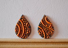 Polymer clay cabochon pair, handmade cabochon, Fimo cabochon ( 151. ) by Beabead on Etsy