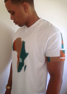 African Map African Print T-shirt white OR Map of by COCUSHUBI