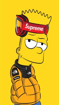 Simpson supreme Wallpaper by - - Free on ZEDGE™ now. Browse millions of popular yellow Wallpapers and Ringtones on Zedge and personalize your phone to suit you. Browse our content now and free your phone Gucci Wallpaper Iphone, Hypebeast Iphone Wallpaper, Iphone Wallpaper Yellow, Simpson Wallpaper Iphone, Cartoon Wallpaper Iphone, Graffiti Wallpaper, Nike Wallpaper, Boys Wallpaper, Cute Cartoon Wallpapers